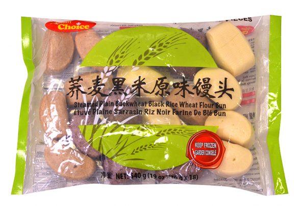 蕎麥黑米饅頭_原味_800X800